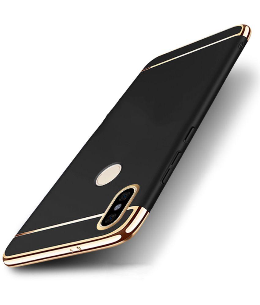 Vivo V5 Plain Cases JKR - Black