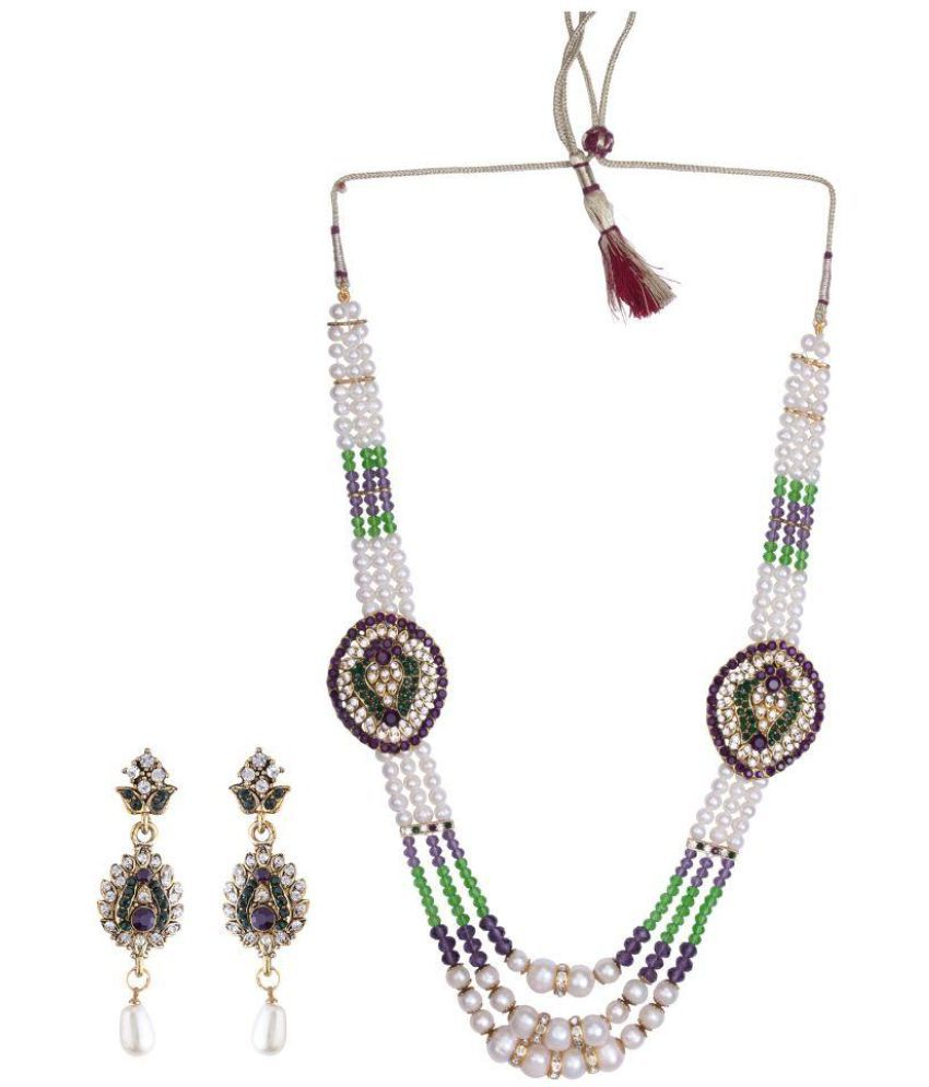 DDPearls 9k Yellow & Rose Gold Necklace Set