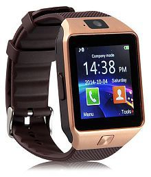 WDS Dz09 Smartwatch Suited Asus PadFone mini - Gold Smart Watches