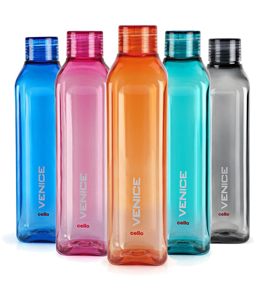 79259784a Cello Multicolour 1000 ml Plastic Fridge Bottle Set of 5  Buy Online at  Best Price in India - Snapdeal