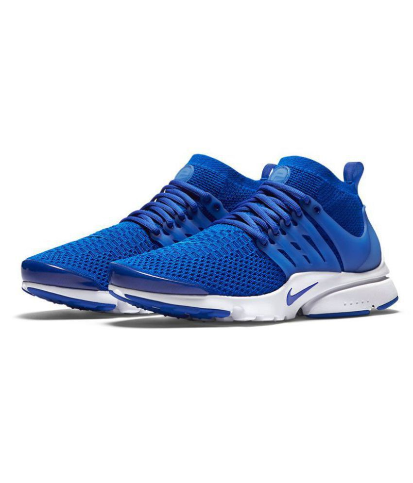 competitive price 41ae5 2727b Nike Air Presto Flyknit Blue Running Shoes - Buy Nike Air Presto Flyknit  Blue Running Shoes Online at Best Prices in India on Snapdeal