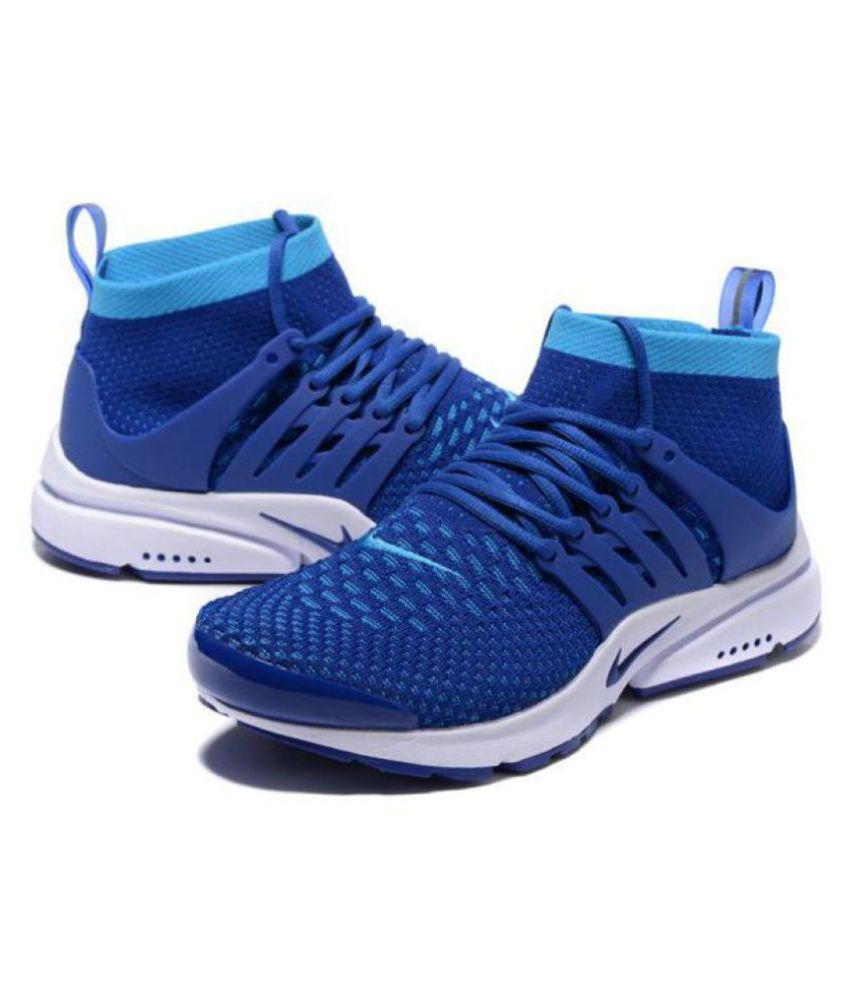 ffd29f6c0a7 Nike Air Presto Ultra Flyknit Blue Running Shoes