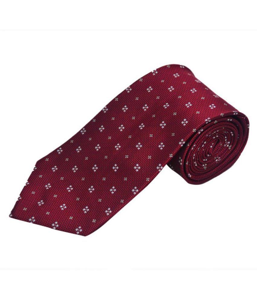 The Vatican Maroon Polka Dots Silk Necktie