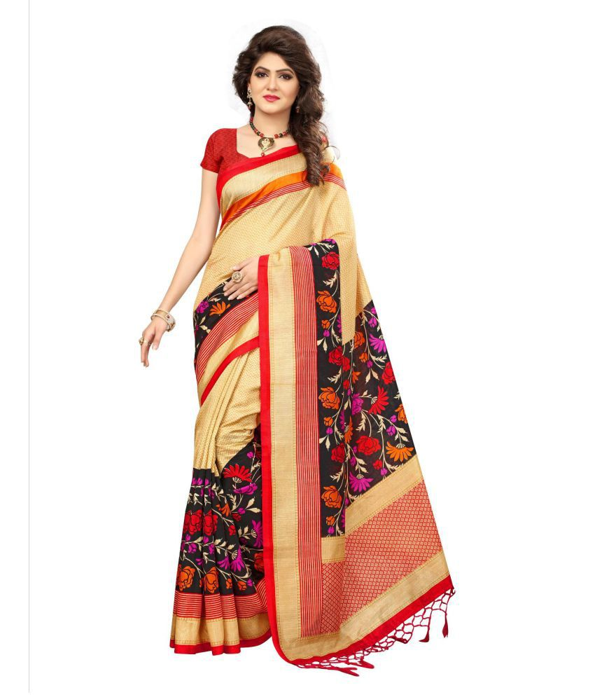 d432fbb238 Varni Fashion beige Cotton Silk Saree - Buy Varni Fashion beige Cotton Silk  Saree Online at Low Price - Snapdeal.com