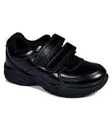 Lakhani Black School Shoe With Vellcro