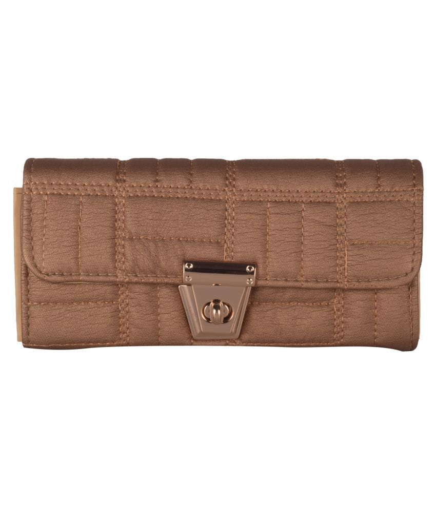 ANICKS Tan Faux Leather Handheld