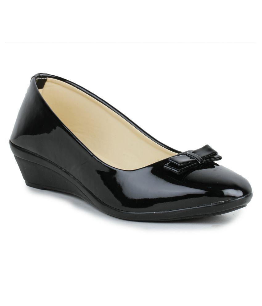 Fashtyle Black Platforms Heels