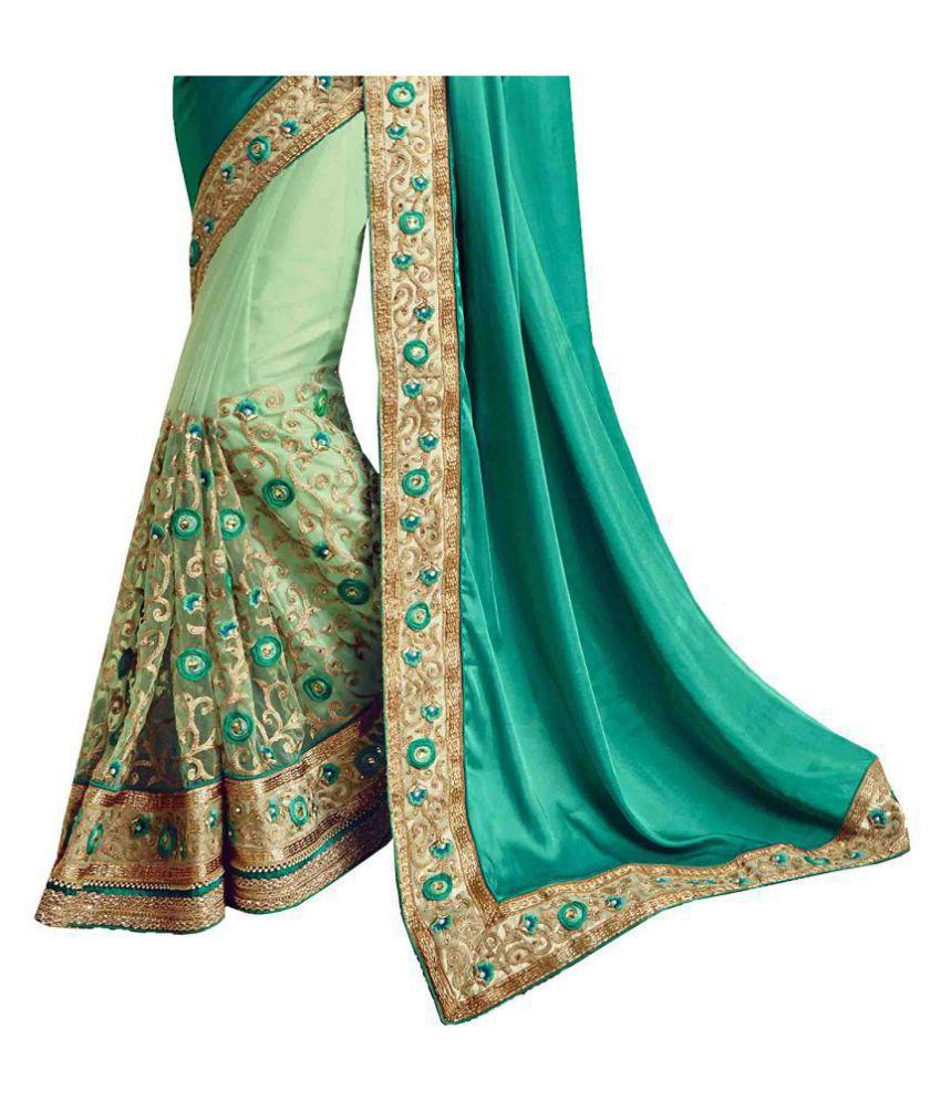 3462819b19 IndianEfashion Green and Beige Georgette Saree - Buy IndianEfashion ...