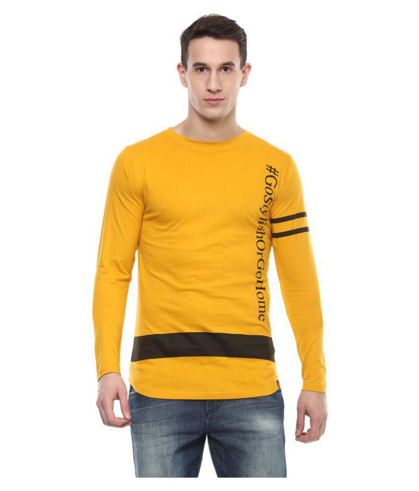 Urbano Fashion Yellow Full Sleeve T-Shirt