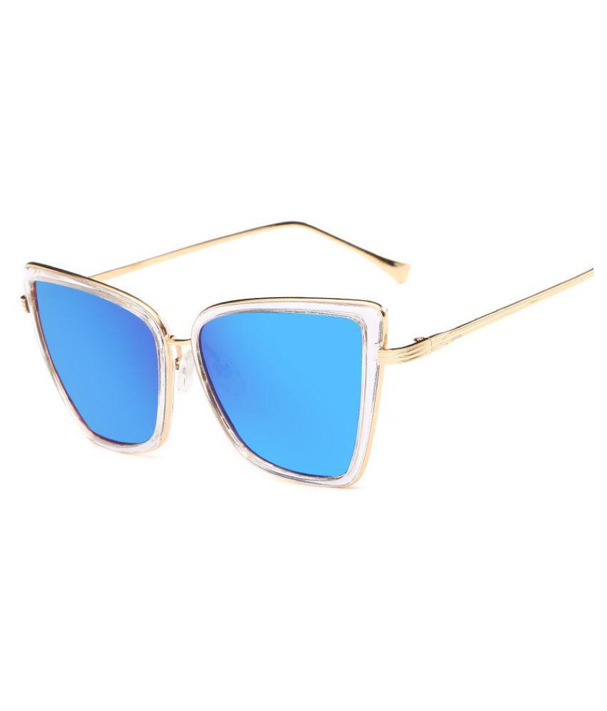 Swagger Women Fashion Summer Style Oversize Cat Eye Sunglasses Metal Frame Mirror UV400 Sunglasses lunettes de soleil