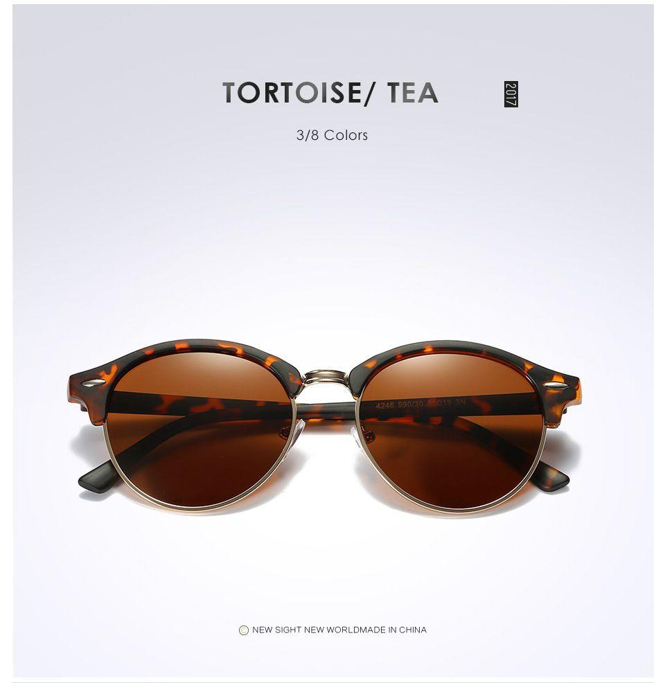 Swagger Retro Club Round Polarized Sunglasses Mens Womens UV400 Mirrored Glasses Eyewear Sold by ZXG