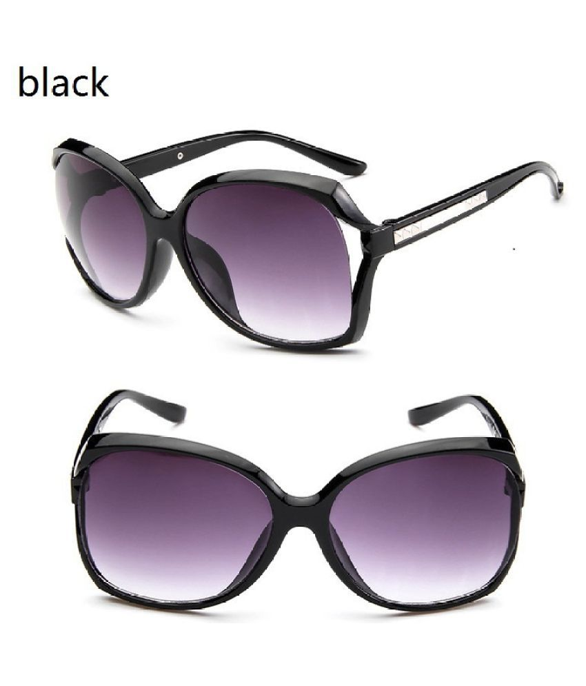 Swagger Purple Women Fashion Outdoor Anti-UV Big Frame Sunglasses Sold by ZXG