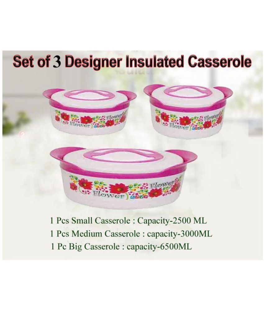 3b8a3ed29 Black Cat Casserole set - 3 Pcs  Buy Online at Best Price in India -  Snapdeal
