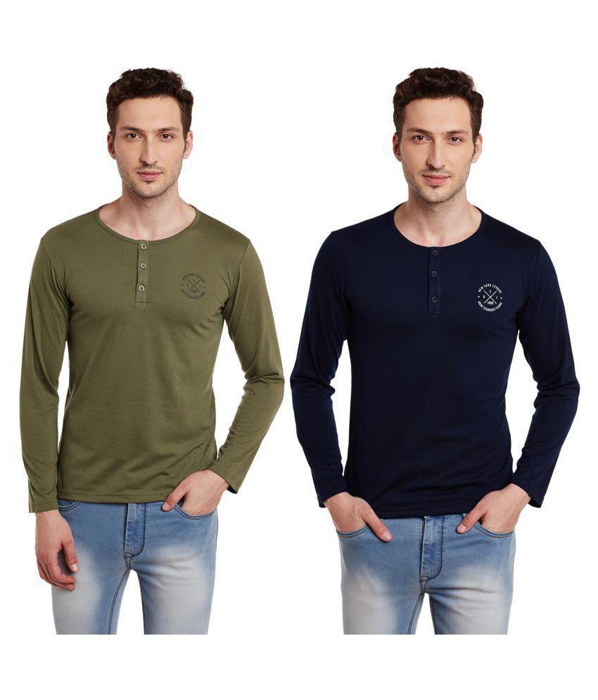 Duke Brown Full Sleeve T-Shirt Pack of 2