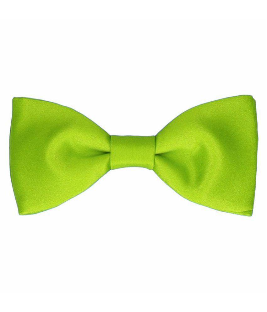 Haflingerr Green Plain Polyester Necktie