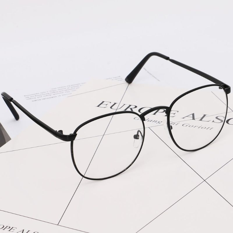 Swagger Optical Glasses Classic Round Clear Mirror Fashion Vintage Decorative Spectacles DIN