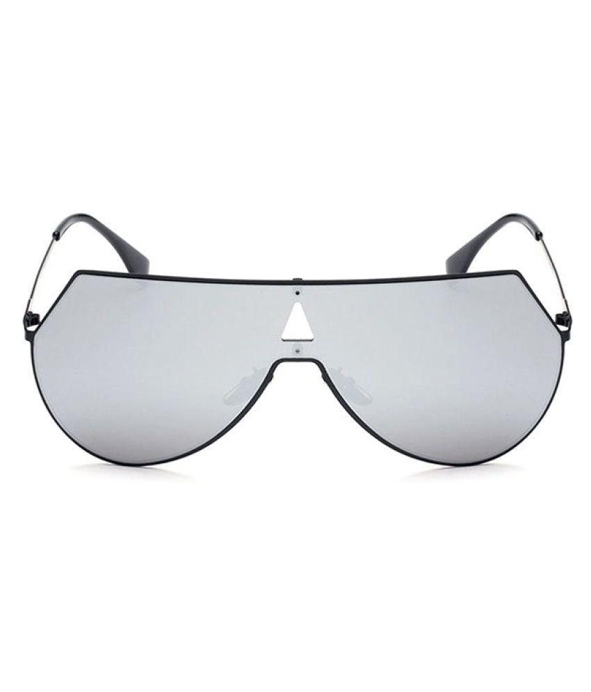 Swagger Unique Shield Oversized Aviation Sunglasses Women Men Fashion One Piece Lens Coating Mirror Outdoor Pilot Sun Glasses
