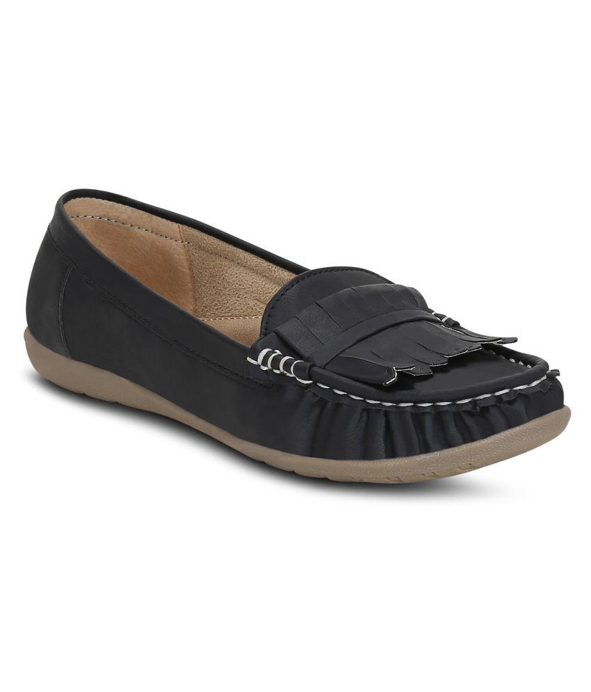 Kielz Black Casual Shoes