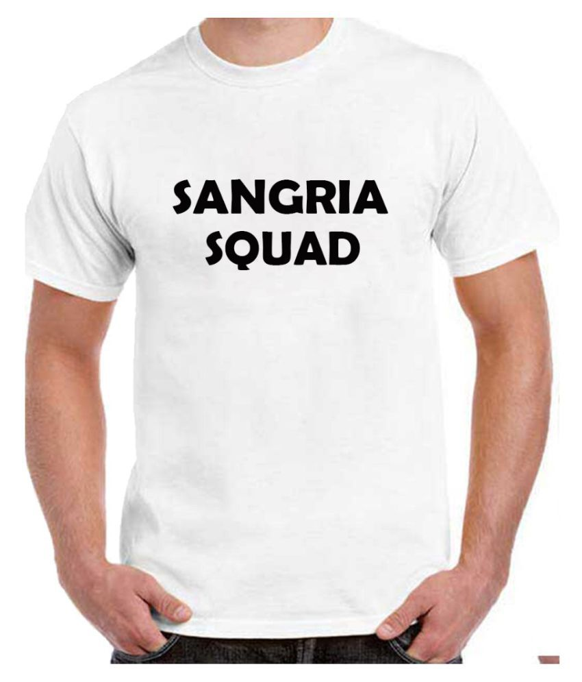 Ritzees Unisex Half Sleeve Dry Fit White Polyester T-Shirt on Sangria