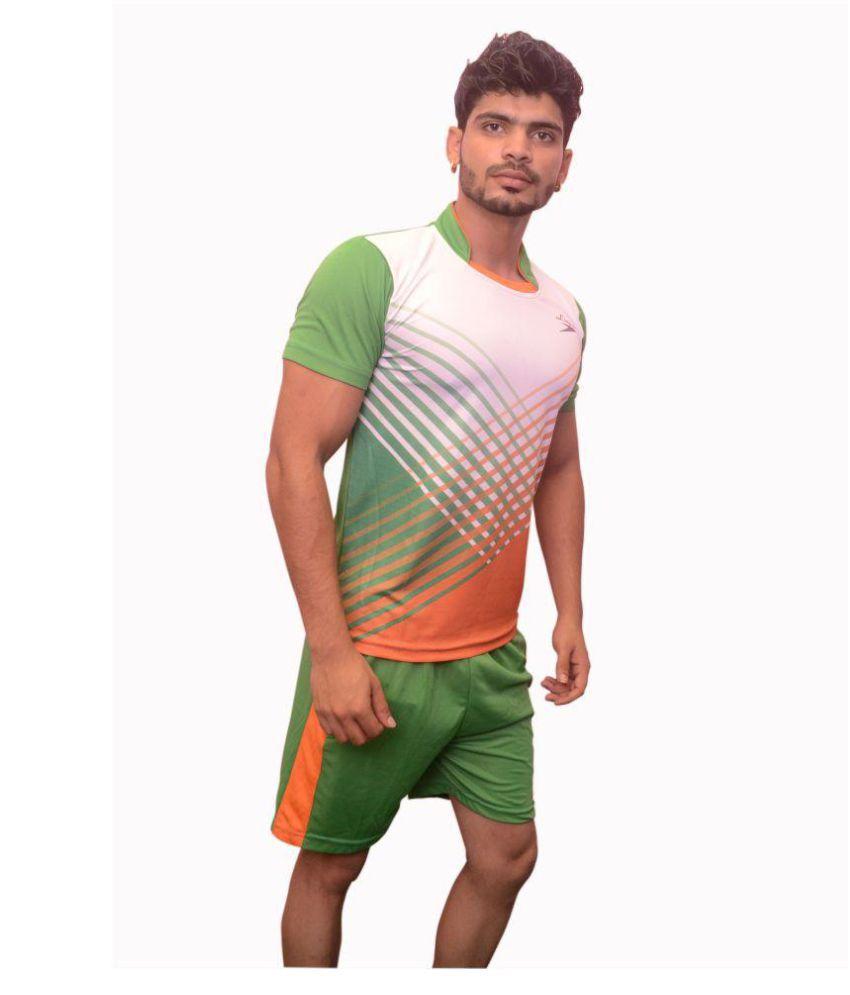 liegue Green Polyester Lycra Jersey