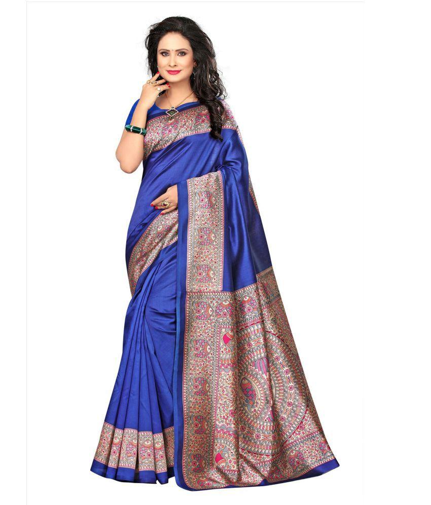 Active Blue Cotton Silk Saree