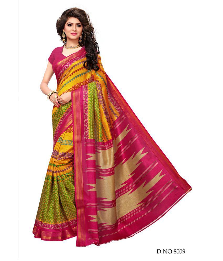 Active Multicoloured Cotton Silk Saree