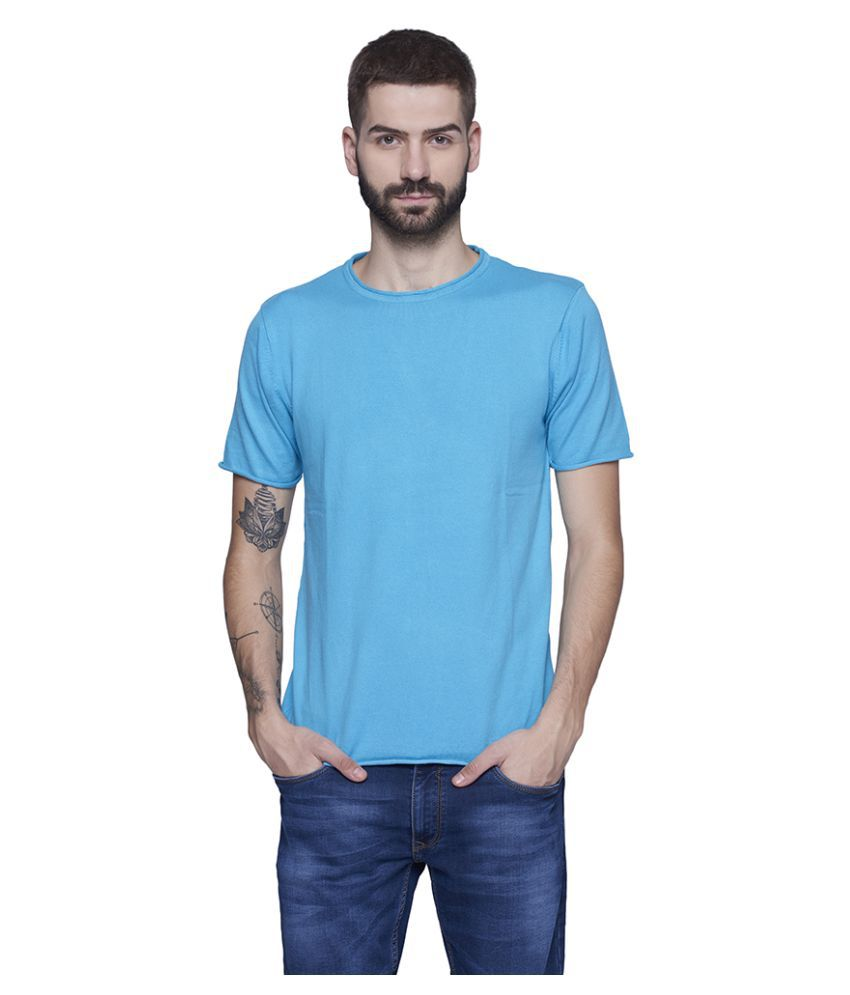 Blue Buddha Blue Half Sleeve T-Shirt Pack of 1