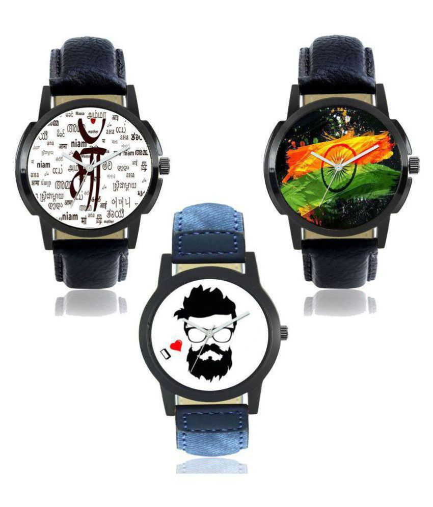 Satnam Men Foxter National Flag Designer Dial Analog Watches(F-01-04-07)