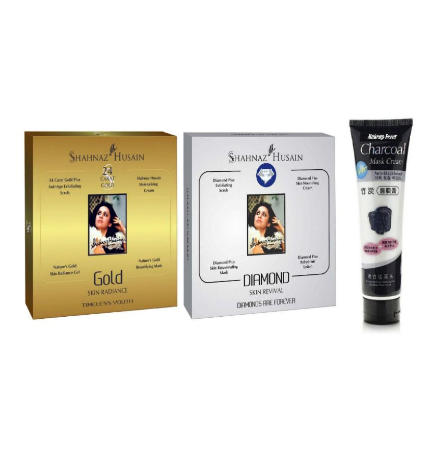 0469c03320 Shahnaz Husain Gold & Diamond Facial Kit + Charcoal Peel Off Mask: Buy  Shahnaz Husain Gold & Diamond Facial Kit + Charcoal Peel Off Mask at Best  Prices in ...