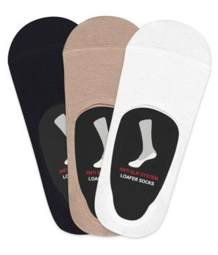 Balenzia Multi Casual No Show Socks Pack of 3
