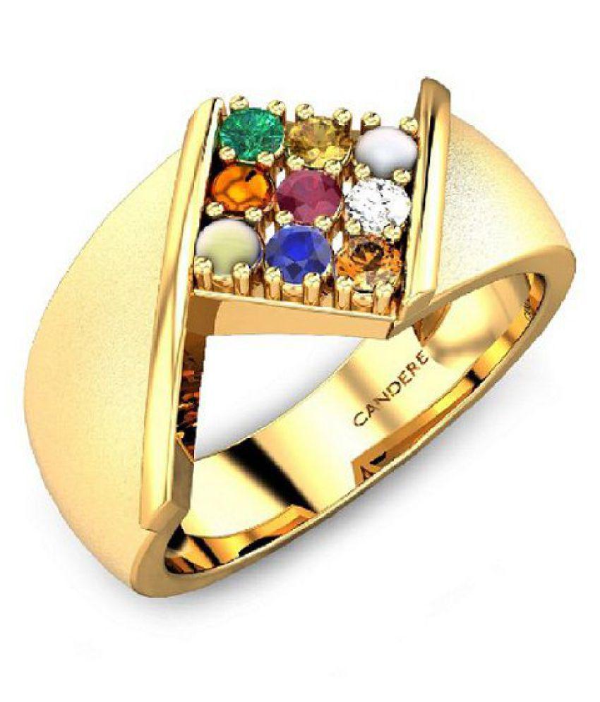 Jaipur Gemstone 18k Asht Dhatu Ring