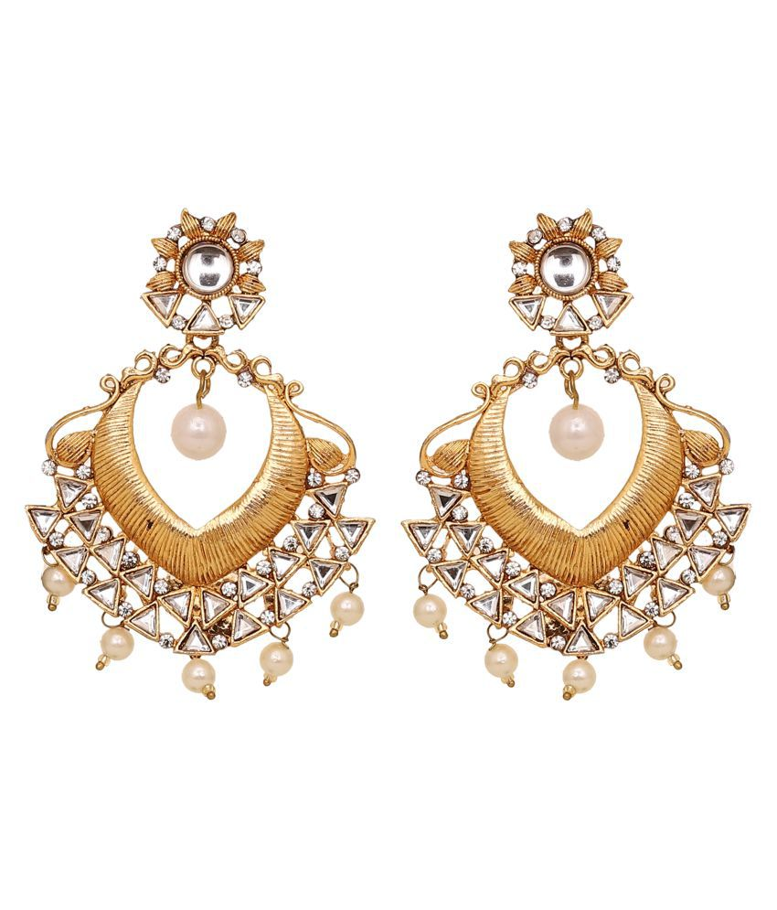 Jewelcents 9046 Traditional Chandabali Long Earrings