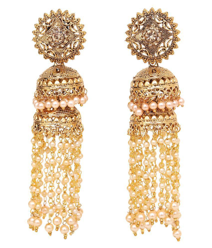 Jewelcents 9394 Long Traditional Jhumki Earrings