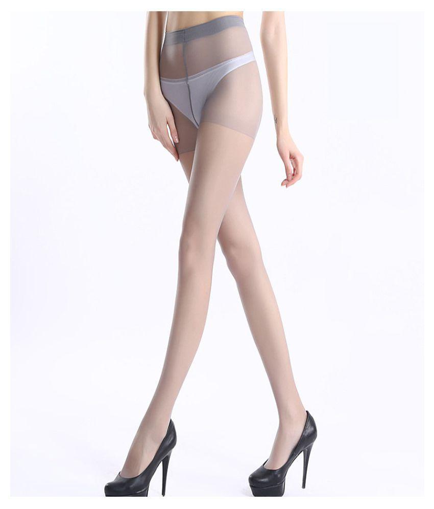 Kamalife 1 Set Core Wire Gray 5D Plus Pantyhose Bottoming Socks Stockings