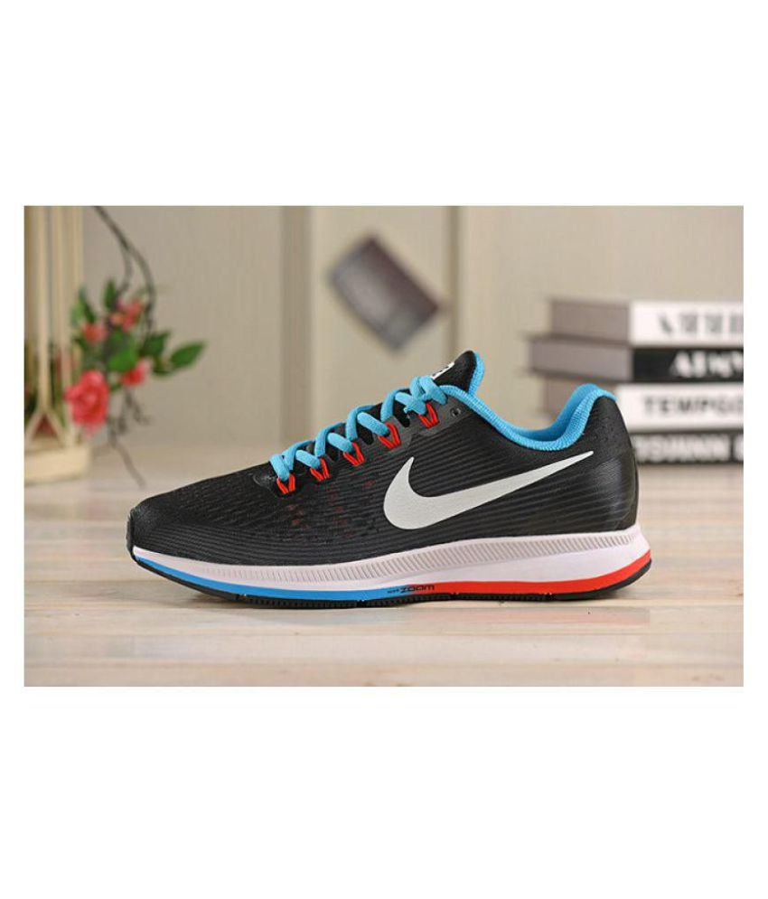 2185edbfd3 Nike AIR ZOOM PEGASUS 34 Black Running Shoes - Buy Nike AIR ZOOM PEGASUS 34  Black Running Shoes Online at Best Prices in India on Snapdeal