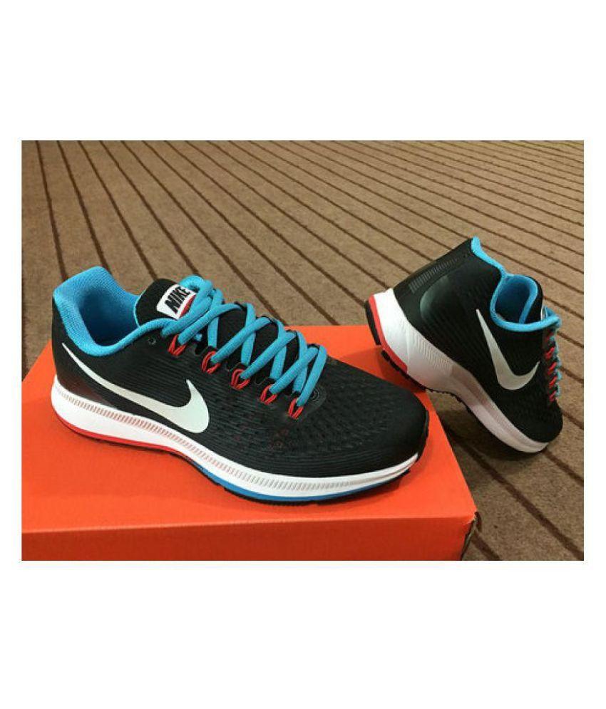 buy popular 536dc bc41f ... Nike AIR ZOOM PEGASUS 34 Black Running Shoes ...