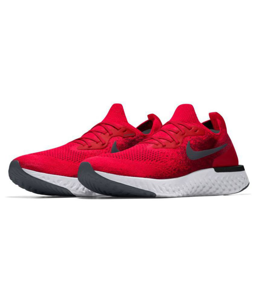 e5723b11a7cb Nike Epic React Flyknit Red Running Shoes - Buy Nike Epic React Flyknit Red Running  Shoes Online at Best Prices in India on Snapdeal
