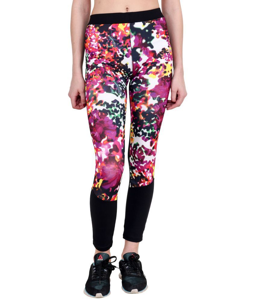 aarmy fit Polyester Blend Tights - Multi Color