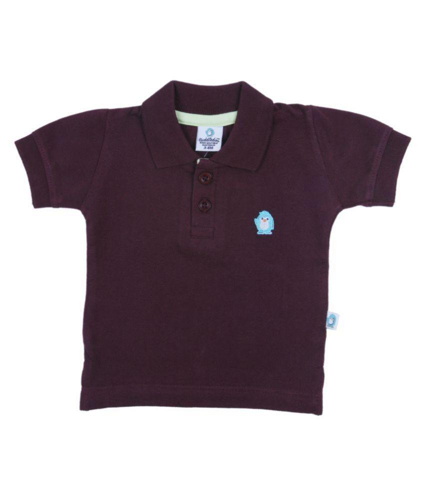 Cuddledoo Chocolate Brown Polo T-Shirt (6-9 M)