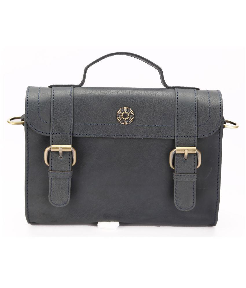 Koza Blue Pure Leather Sling Bag