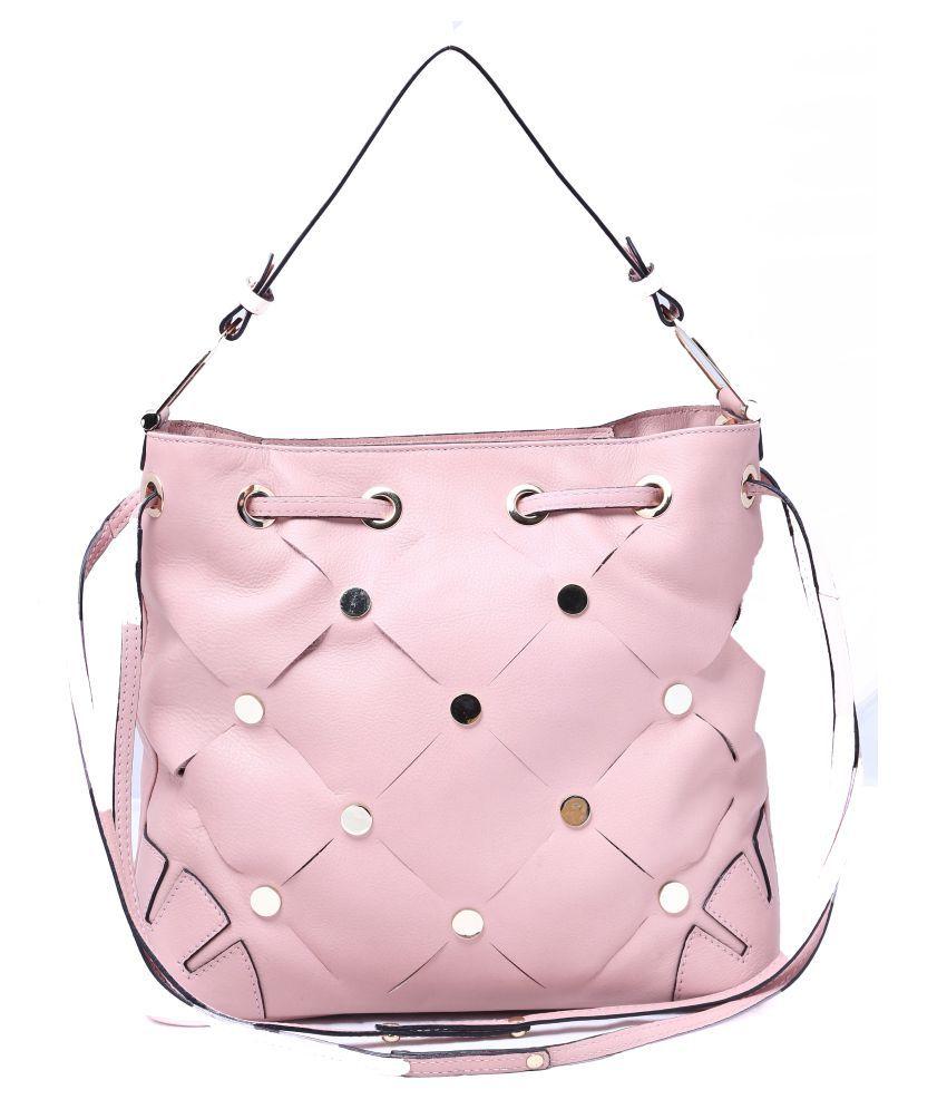 Koza Peach Pure Leather Shoulder Bag