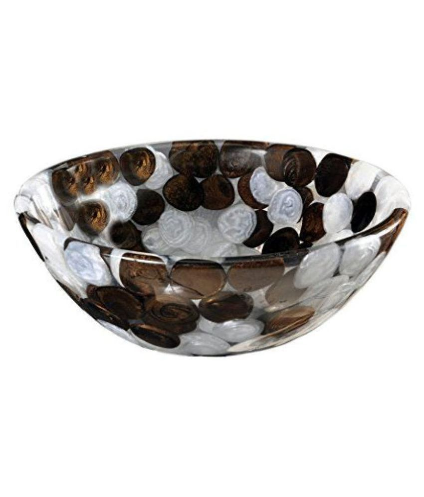 Arista Brown Vinyl/Acrylic Over Counter Wash Basins (L*B*H in CM):30*30*15