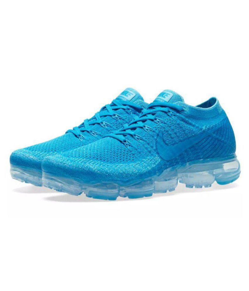 00f559f01aa Nike AIR VAPORMAX FLYKNIT Blue Running Shoes - Buy Nike AIR VAPORMAX  FLYKNIT Blue Running Shoes Online at Best Prices in India on Snapdeal