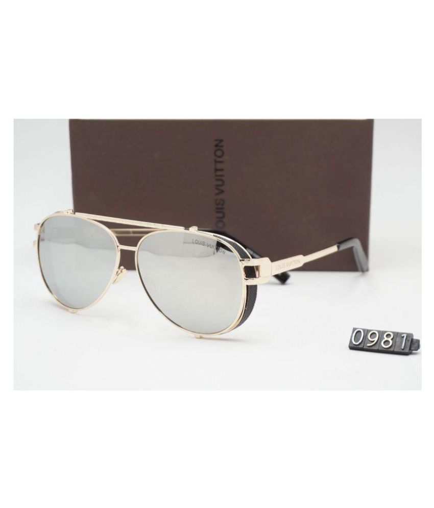 LOUIS VUITTON SUNGLASSES Silver Aviator Sunglasses ( LV0981 ) - Buy LOUIS  VUITTON SUNGLASSES Silver Aviator Sunglasses ( LV0981 ) Online at Low Price  - ... 1b543aeb72f5a