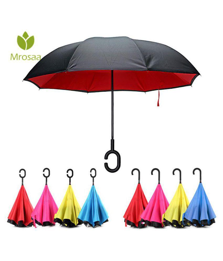1b5b10322307 Newest Reverse Umbrellas Folding Double Layer Inverted C Hand Holder ...