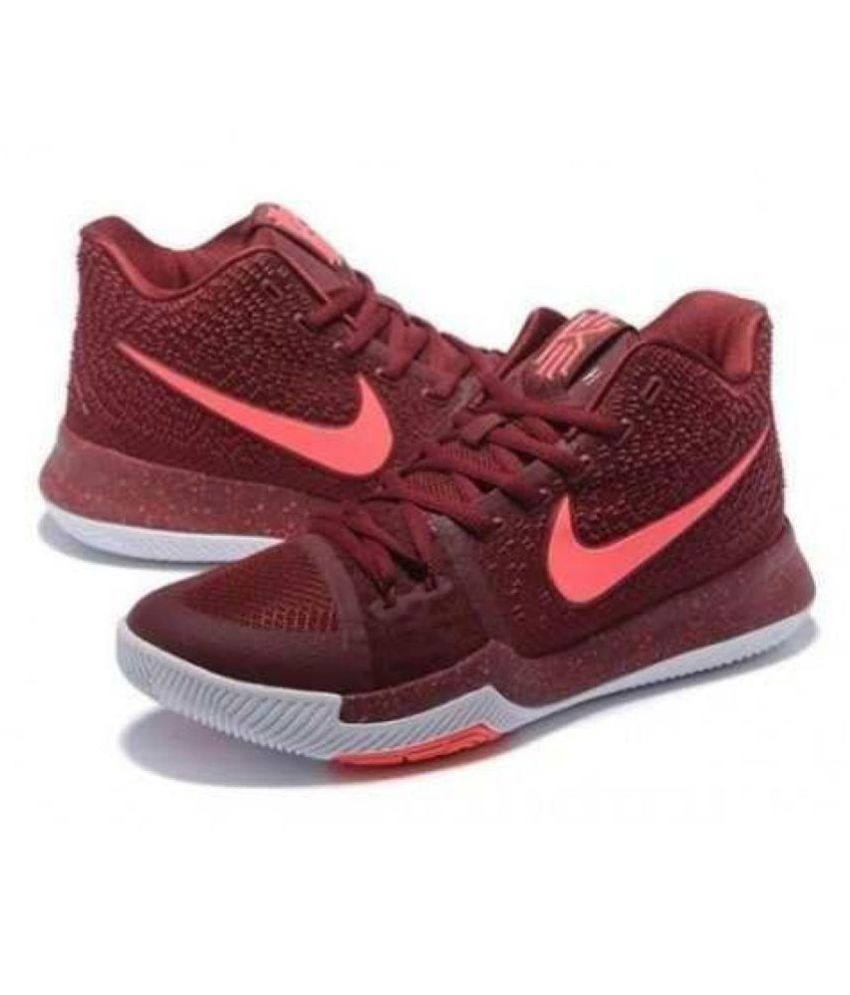 ebaf8f759b8e ... low price nike kyrie 3 irving maroon basketball shoes buy nike kyrie 3  irving maroon basketball