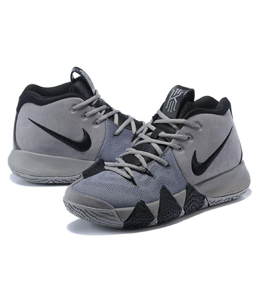 reputable site b801e 77d79 Nike Kyrie 4 Gray Basketball Shoes