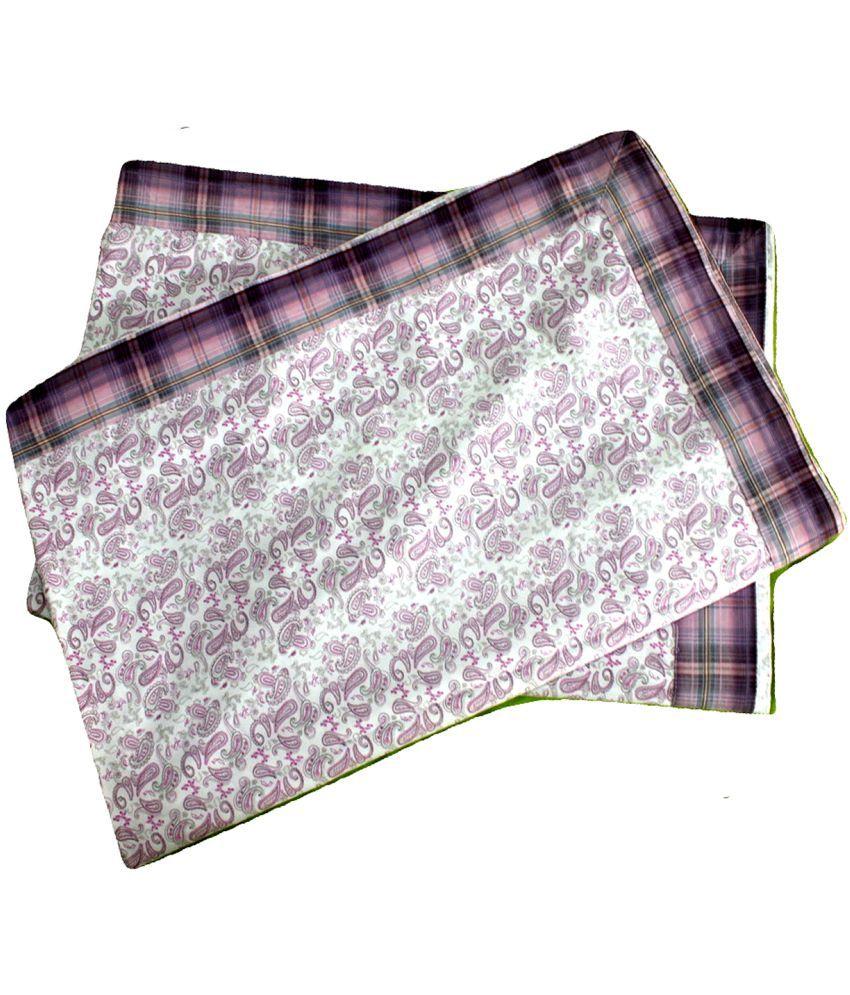 Elan Dreams Single Cotton Pink Contemporary Top Sheet Set of 2