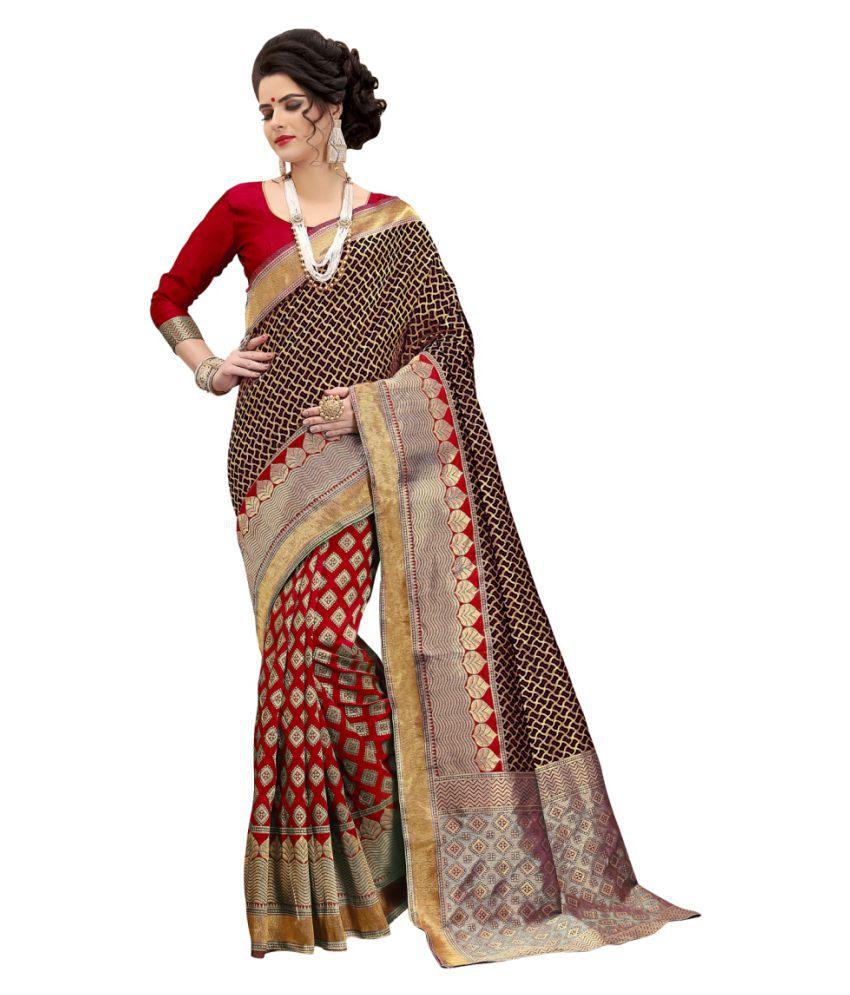 gopal fashion Black Banarasi Silk Saree