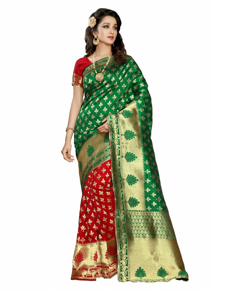 gopal fashion Green Banarasi Silk Saree